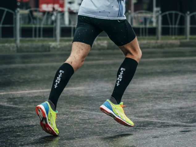 Sportive compression stockings in runs improve venous circulation
